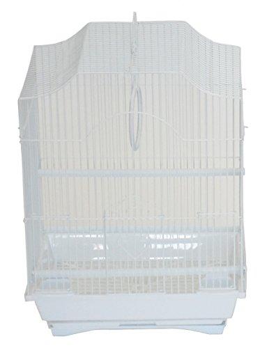 YML A1334WHT Cornerless Flat Top Cage, Medium