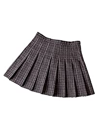 XXXITICAT Girl's School Uniform Scooter Plaid Pleated Dance Skirts