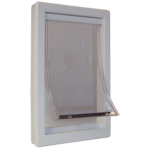 Ideal Pet Products Designer Series Plastic Pet Door with Telescoping Frame, Extra-Large, 10.5' x 15' Flap Size