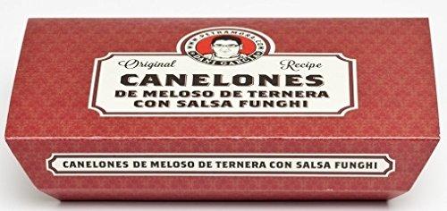 Petra Mora - Canelones de meloso de ternera con salsa funghi 250 g Receta original de DANI GARCÍA: Amazon.es: Alimentación y bebidas