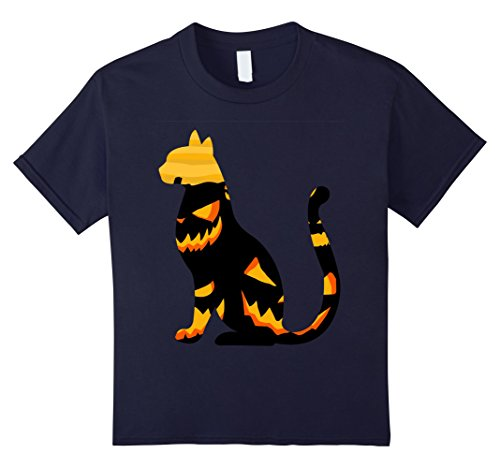 Kids Black Cat Pumpkin Costume for Halloween 2017 T-shirt 12 Navy - Pregnant Cat Costume