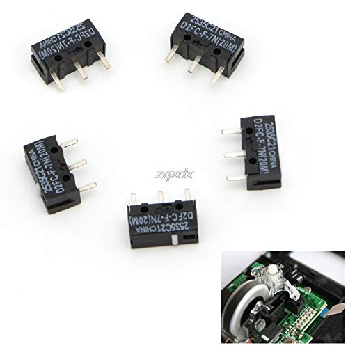 SAUJNN 5Pcs 20M Micro Switch D2FC-F-7N for Mouse Replacement Substitute Tested Z10 Drop Ship