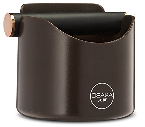 "Osaka, Shock-Absorbent Espresso Knock Box - Durable 4.7 Inch Barista Style Knockbox""Kawachi Fuji Garden"" (Brown)"
