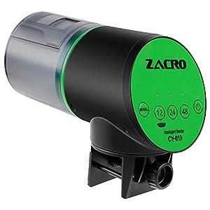 Zacro Comedero de Peces Automáticos Lite para ≤24mm Pecera, Alimentador de Peces con Cargador USB para Acuario, Pecera…