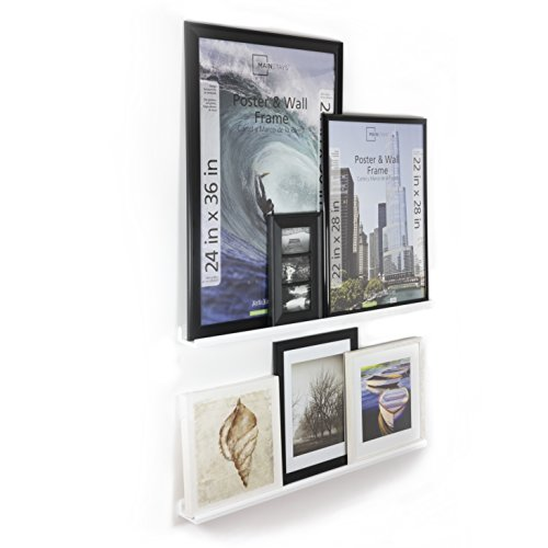 Wallniture Boston Contemporary Floating Wall Shelf – Picture Ledge for Frames Book Display White 46 Inch Set of 2 Review