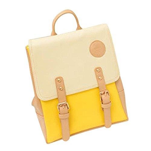 Junior Handbags Yellow - Sameno Outdoor Girl Kawaii University High School Junior High School Backpack (Yellow)