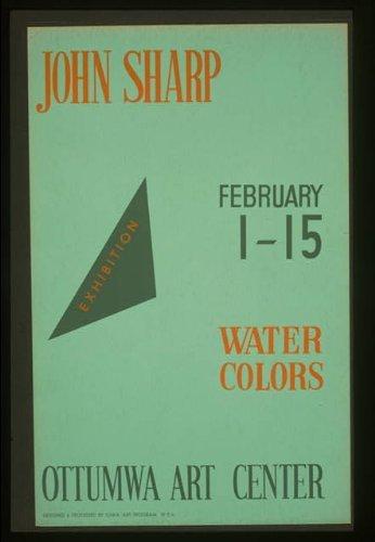 Photo: John Sharp,Ottumwa Art Center,Iowa,IA,1936-1941,Federal Art Project Art Center Iowa