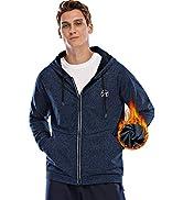 MEETWEE Sweatshirts for Men, Lightweight Full Zip Thermal Hoodie Jacket, Fleece Lined Active shir...