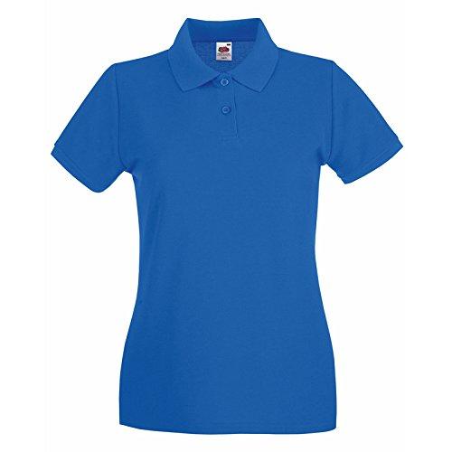 Da of Corte 100 Donna T Lavoro Shirt Fruit Loom Royal Piquet The Cotone Polo Maniche CHEMAGLIETTE wxB5Y7qY