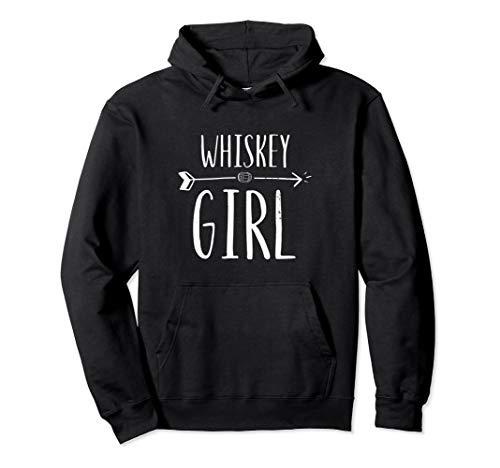 (Whiskey Girl Cute Women's Retro Hoodie Sweatshirt)