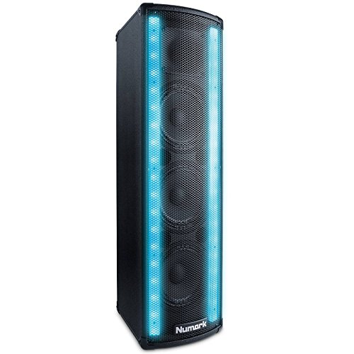 Numark Lightwave | 2-Way DJ Speaker with Beat Sync'd LED Lights (200W Class D Power) (Waves Two Light)
