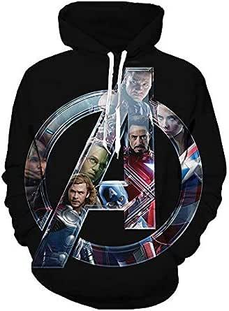 Marvel Men's Superhero Group Avengers series 3D digital print sports hoodies-XL