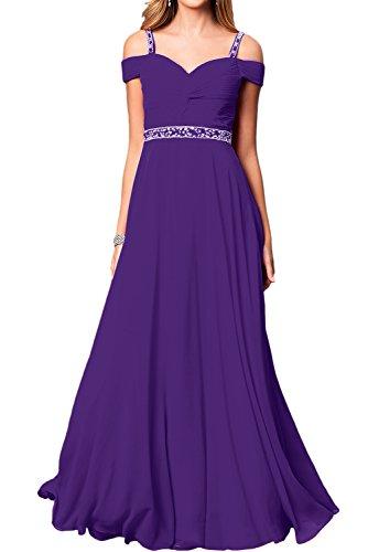 Elegant Linie Lang Festkleid A Violett Ballkleid Damen Partykleider Abendkleider Chiffon Ivydressing ZYqtn7Hw5
