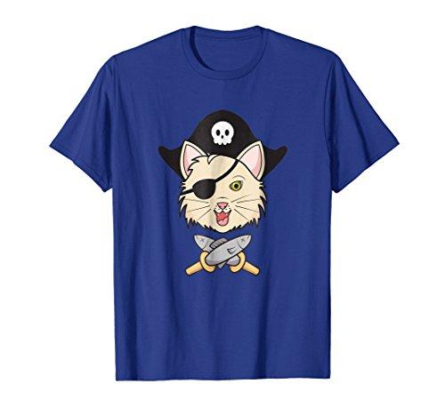 Cat Pirate T-Shirt - Graphic Kitten Minnow Sword Pirate Tee