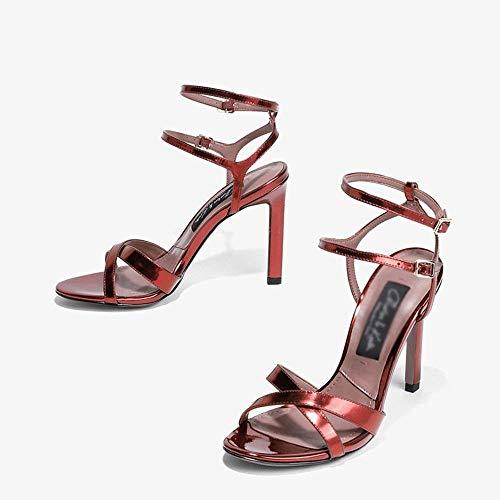Femenino Dedo Sandalias Pie color Del Verano 5 Fine Primavera Eu38 cn38 De uk5 Zapatos Tamaño 2 Abierto qEwxIX0q