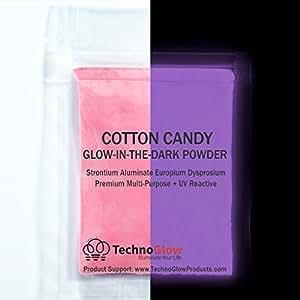 amazon com cotton candy pink glow in the dark uv powder 100 g