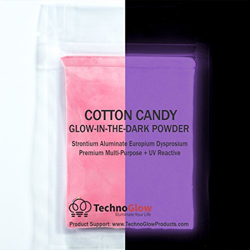 Cotton Candy Pink Glow in the Dark Powder (30 g) + UV Reactive
