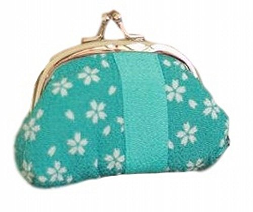[POJ Japanese Style Coin Purse [Blue / Red ] Cherry Blossoms (Sakura) Pattern Cosplay Goods (Blue)] (Cute Dog Costumes Uk)