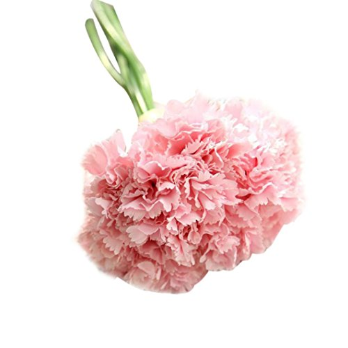Carnation Daisy Bouquet (AIMTOPPY Artificial Fake Flowers Carnations Floral Wedding Bouquet Bridal Hydrangea Decor (pink))