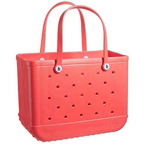 Price comparison product image BOGG BAG X Large Waterproof Washable Tip Proof Durable Open Tote Bag for the Beach Boat Pool Sports 19x15x9.5 (X-Large, CORAL me mine)