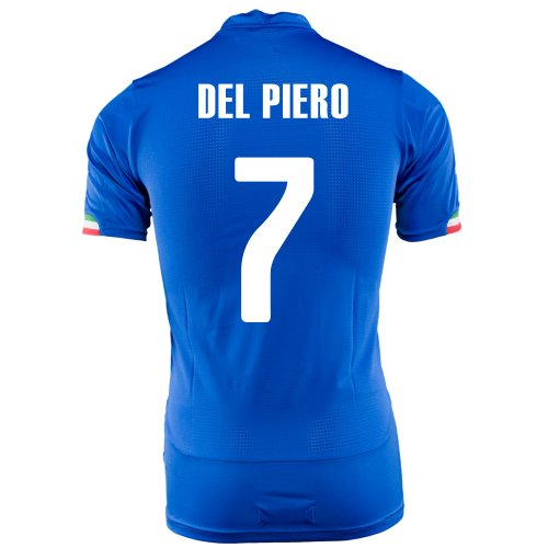 Puma Del Piero #7 Italy Home Jersey World Cup 2014 (Youth) (YM) -