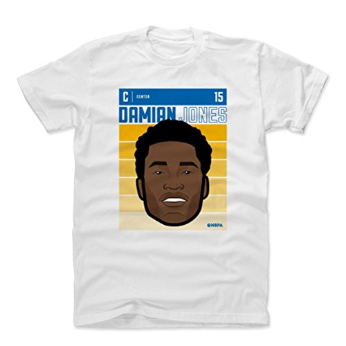 - 500 LEVEL Damian Jones Cotton Shirt Medium White - Vintage Golden State Basketball Men's Apparel - Damian Jones Fade B