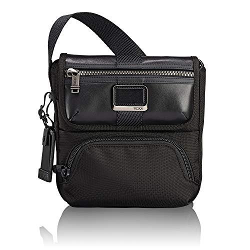 TUMI - Alpha Bravo Barton Crossbody Bag - Satchel for Men and Women - Black (Tumi Voyageur Capri Crossbody Black One Size)