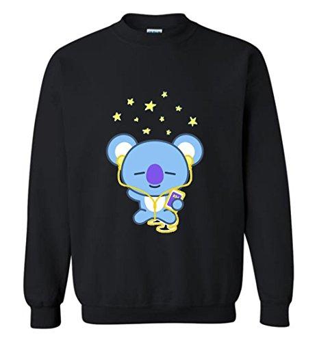 The Incredible BTS Happy Koya RM BT21 Hoodies Sweatshirts Koya RJ Shooky Mang Chimmy Tata Cooky
