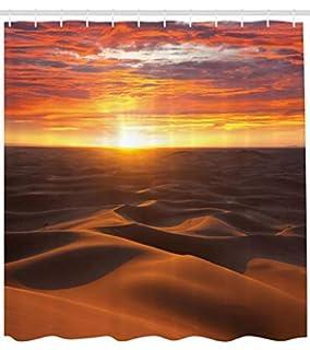 ABAKUHAUS Desierto Cortina de Baño, Dramático Atardecer Sahara Duna Paisaje Árido Marruecos Verano Naturaleza Foto