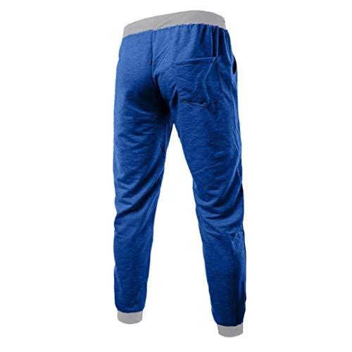 Primavera Hombres Blau Otoño Para Hombre Ocio Pantalones Battercake Cómodo Deportivos fnPHq7Twxg