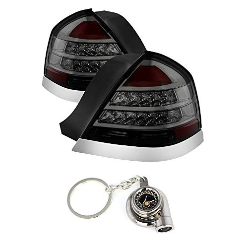 Crown Victoria LED Tail Lights Smoke Lens With Chrome Housing+Free Gift Key Chain Spinning Turbo Bearing ()