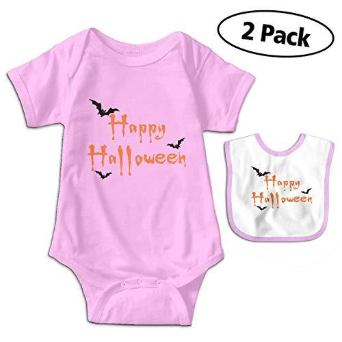 LMJ-PPF Happy Halloween Unisex Baby Short-Sleeve Bodysuits Onesies