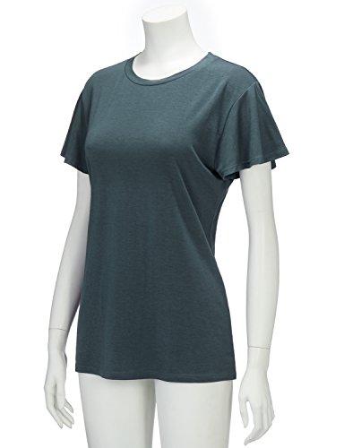 Regna X Women's Short Sleeve V Neck Loose Flowy Comfy Tunic Shirts Grey XL by Regna X (Image #3)