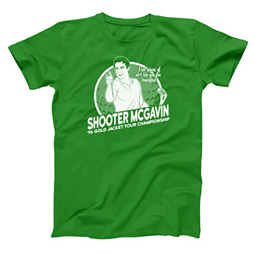 Shooter McGavin Funny Sports Gilmore Golf Champ Golfing Eat Pieces Of Shit For Breakfast Club Champion Comedy Classic Mens Shirt XXXXX-Large Green