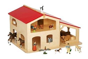 La ferme en bois jouet amazon jeux et jouets