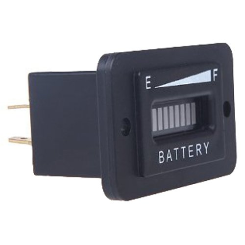 SODIAL(R)LED Digital 12V&24V Indicador de carga de bateria Medidor LED 12V y 24V Negro 051779