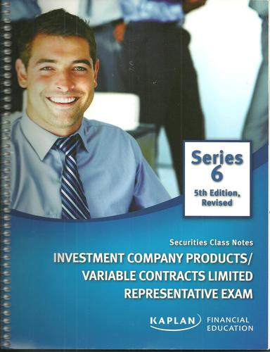Series 6 Investment Company Products/Variable Contracts Limited Representative Exam 5th Edition Revised pdf epub