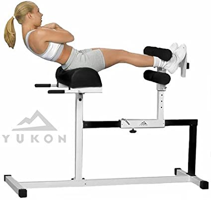 Yukon Glute, Hamstring, Back, and Abs Hyperextension Bench  GHD Exercise  Machine - Glute Ham Developer