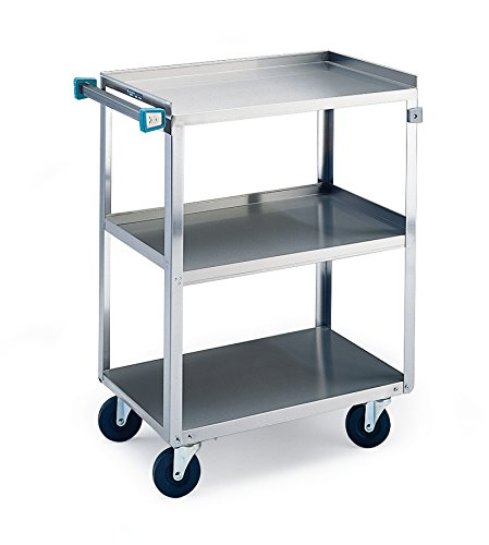 Lakeside 322 Utility Cart, 3 Shelves, Stainless Steel, 300 lb Capacity, 18-3/8 x 30-3/4