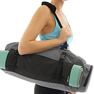 Sisyama Closeout Yoga Mat Gym Bag Tote Carryall – Waterproof Bag + Harness Mat Carrier