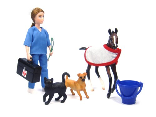 Breyer Classics Vet Care Doll and Animals Set