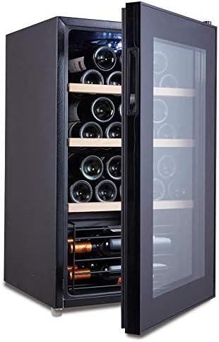 Lnspirationalギフトインテリアアクセサリーワインボトルとドリンク32ボトルサーモエレクトリックブラック垂直クーラー冷蔵庫大容量Led温度制御パネル小型ミニアプライアンスメタルホム