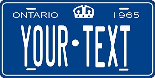 Canada 1965 Personalized Tag Vehicle Car Moped Bike Bicycle Motorcycle Auto License Plate (Ontario Car License Plate)