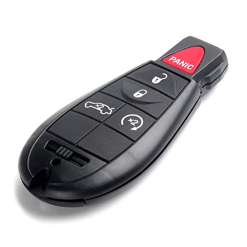 ECCPP 1X 5 Button Replacement Uncut Keyless Entry Remote Control Car Key Fob for Jeep Dodge Chrysler Series M3N5WY783X 433MHz by ECCPP (Image #1)