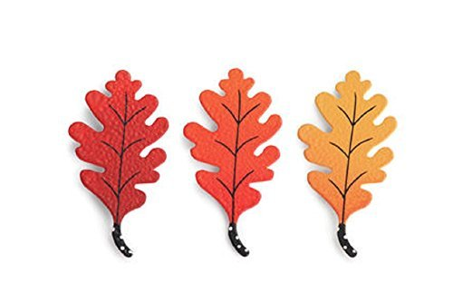 Autumn Leaves Magnets - Embellish Your Story Oak Leaf Magnets - Set of 3 Assorted by Demdaco