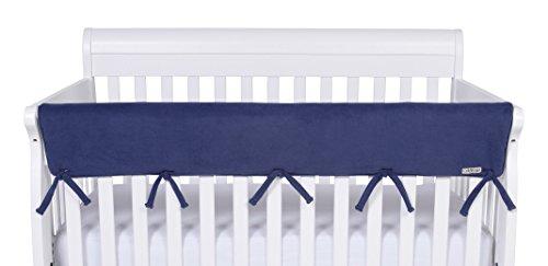 Trend-Lab-CribWrap-Wide-1-Long-Fleece-Rail-Cover-Navy