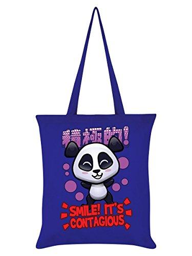 Fourre Panda tout Smile 42 Bleu 38 X Cm Handa 5U6qw