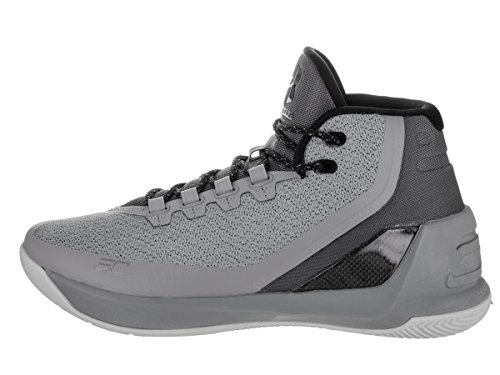 Under Armour UA Curry 3 Hombre Zapatillas Baloncesto Gris/Negro
