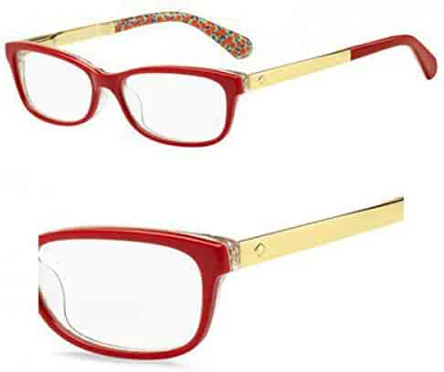 d82715f202 Eyeglasses Kate Spade Jessalyn 0XSU Red Palladium Transparent Green
