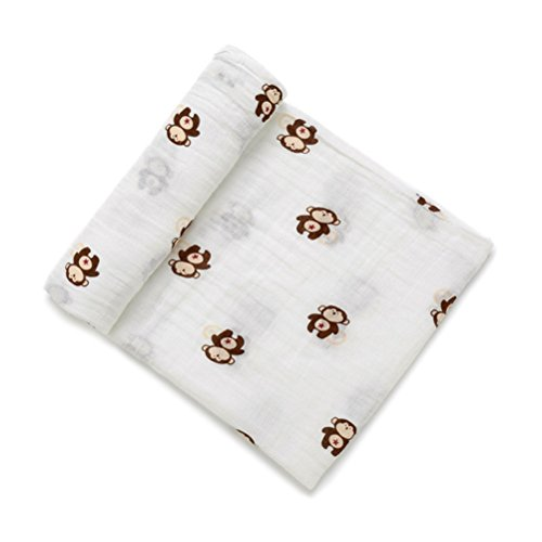 YeahiBaby Newborn Baby Infant Muslin Gauze Cotton Swaddle Blanket Wrapping (Brown -